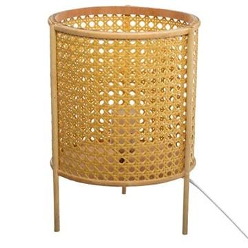 Atmosphera - Lampe à Poser Cannage en Bambou et Rattan H 28 cm