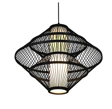 Lustre-Bamboo Art Pendant Light/Plafonnier Antique En Bambou/Restaurant Tea House Lustre Lampe Bamboo Éclairage Intérieur/Diamètre 60cm Facile à installer