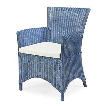 Rotin Design Fauteuil ROSAS Bleu en Osier fitrit
