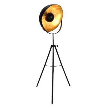XUANLAN Lampadaire Créatif Métal Retro Studio de trépied Lampadaire-Noir Style Industriel Comtemporary Sérénade Modernes Chambres à Coucher Lumière Permanent Pas de Scintillement