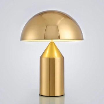 FGART Champignon Décoratif Lampe De Table Lampe De Chevet Bureau Minimaliste Moderne Salon Chambre Étude Lampe D'hôtel,d'or