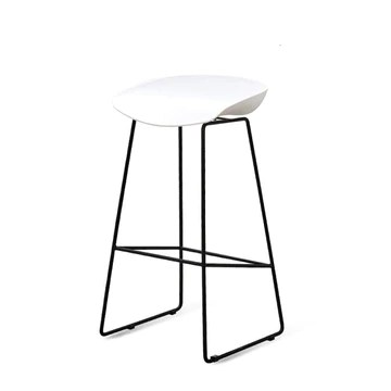 Aigrun Whole Time Simplicity Réception Bar Counter Chair Bar High Foot Bar Chair Originality Bar Stool Household Meal Platform Chair-White75cmhigh