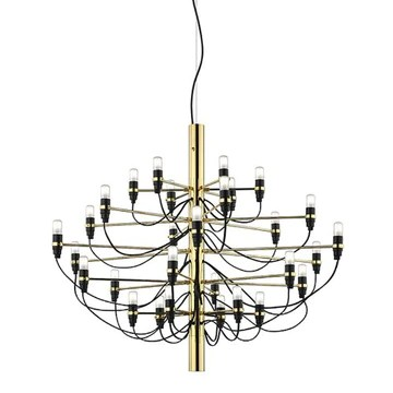 Flos Suspension 2097 S – Laiton Gino sarf 5561420 1958, acier, laiton, fer, salon lampe – Lampe de table – Lampe suspension – Plafonnier