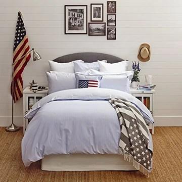 Lexington Icônes Couvre-lit Blanc/Gris