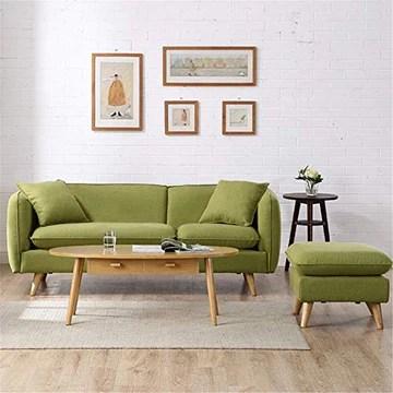 Canapé paresseux Canapé-lit Dossier/bras mobile Jambe en bois naturelle mobile Assemblage facile Nouvelle vie à la mode Design Accrocheur (Couleur : Vert, Taille : Three person)