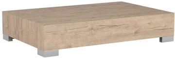 Mobili Fiver, iCube 90 Table de Salon, Mélaminé, chêne naturel, 90 x 60 x 18 cm
