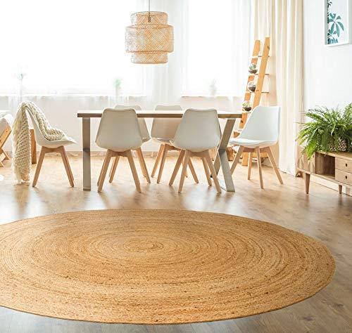 hamid tapis jute naturel alhambra rond tapis 100 fibre de jute naturel 200x200cm