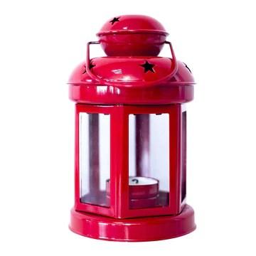 MoGist Chandelier décoratif en Fer forgé Style européen Lampe de Table Décoration de Table Décoration de Mariage Lanterne de Noël, Rouge, 10 * 21.5cm