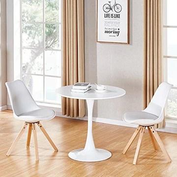 Table à Manger Ronde Design en Bois - Abrezzo