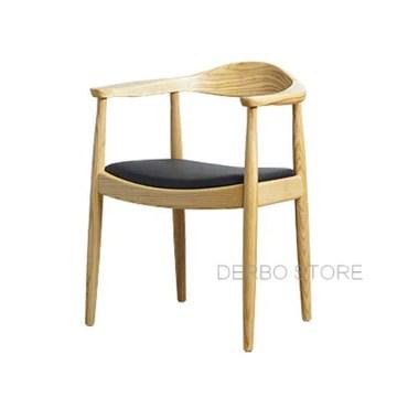 YUJINMAOYI Célèbres Modernes Classiques de Conception de chaises en Bois de frêne Massif, Meubles rembourrés à Manger, loft Mode Populaire Meubles en Bois 1pc,Bien sûr