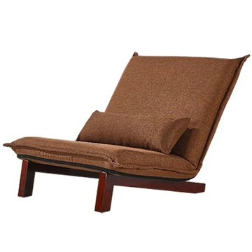 Lazy Single Sofa Canapé Pliable Canapé Chambre Lavable Tatami Salon Lounge Chair Multi-gamme Réglable Chaise Baie De Baie Canapé Lit Portant 120KG (Color : BROWN, Size : 80 * 70 * 75CM)
