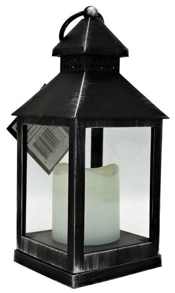 Arti Casa Effet Bois Plastique 24 cm Lanterne Bougie à LED Home Garden Décoration de Mariage