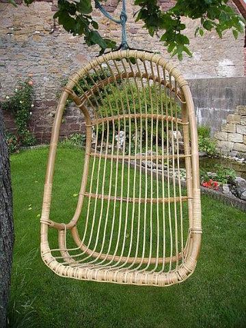 Fauteuil suspendu en rotin Rattan im Trend - Balançoire - Meuble de jardin