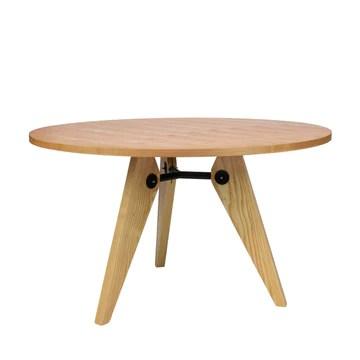 Vaukura Table de Salle à Manger Ø120 - Table Ronde en Bois