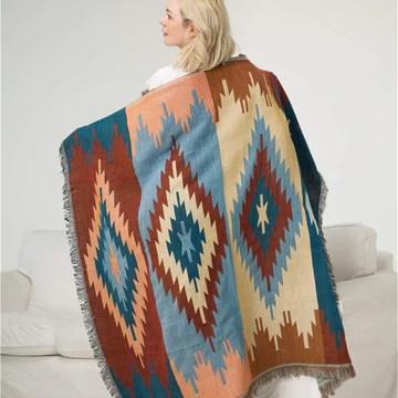 BSESTELLE Couverture 100% coton Nordic Home Géométrie Tapisserie Navajo Couverture Couverture décorative (Size : 150X210/59 * 82.7'')