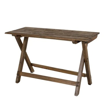 MACABANE Table Pliante 120x52cm Mahogagny - Esprit Brocante, 82x16x122