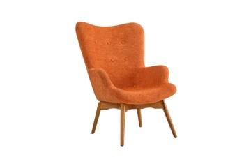 BHDesign Sylvia - Fauteuil Moderne scandinave - Tissu - Coloris Orange