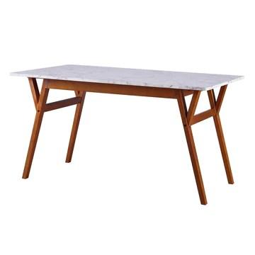 Versanora - Ashton rectangulaire à Manger Faux marbre Table- / Noyer VNF-00079W