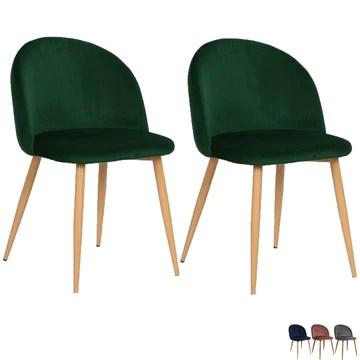 Nimara Chaise en velours au design scandinave, chaise de salle à manger et chaise de cuisine en tissu, chaise de salle à manger rose, gris, vert foncé, vert et bleu