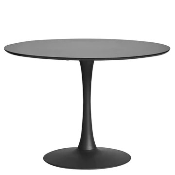 ambiato Oda Table de Salle à Manger Blanc Noyer 110 cm