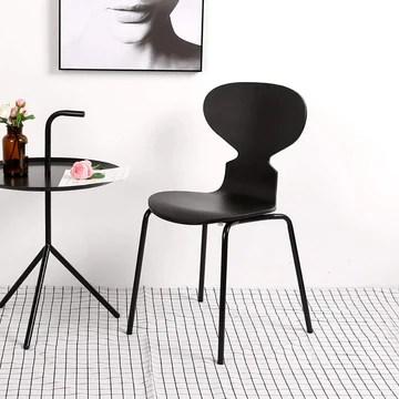 ZY Dining chair Chaise Fourmi Simple, Chaise de Salle à Manger décontractée, siège en Bois courbé + Pieds en Fer forgé, de Conception Ergonomique, pour Restaurant/Bureau/comptoir/Famille