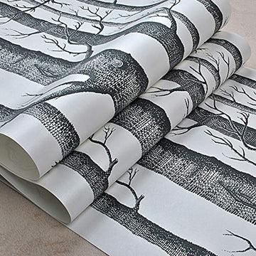Rouleau de papier peint en bois de bouleau Cutogain pour chambre à coucher, salon