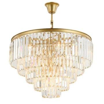 chambre lustres en cristal moderne et minimaliste vie américaine salle à manger lustre éclairage personnalité créative, blanc froid, Dia 80cm