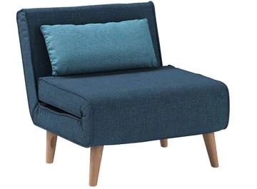 Mobilier Deco Fauteuil scandinave Convertible en Tissu Bleu