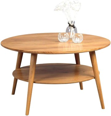 HomeTrends4You Stella Table Basse, Chêne, wildeiche massiv geölt, 80 x 80 x 45 cm