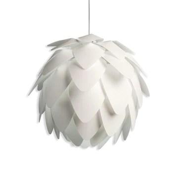 B.K. Licht suspension luminaire design blanc, plafonnier élégant, éclairage intérieur, lumière plafond salon salle à manger chambre, pour ampoules E27, 60W max.