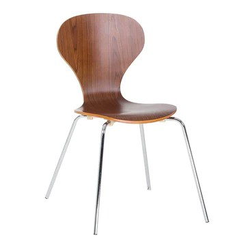 Beliani Chaise de Salle à Manger - siège Design Couleur Bois - Queens