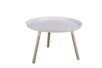 Nordifra - Table Basse Ronde en métal Blanc - Design scandinave Sticks 630