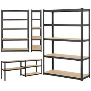 yaheetech 180 x 120 x 45 cm etageres charge lourde clipsable resistant capacite 875 kg meuble de rangement garage cuisine chambre noir