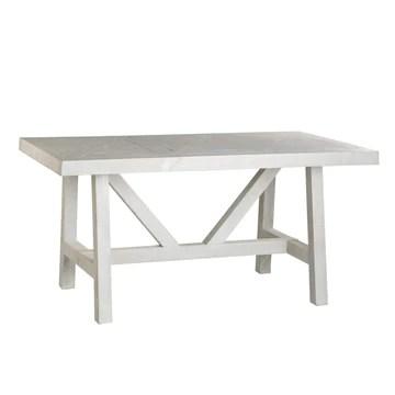 Milner Table Salle À Manger 175 - Bois - 175x95x78 cm - Couleur Blanc Wild
