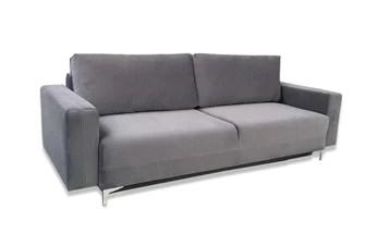 E-MEUBLES Canapé lit Convertible Salon Relax Noveau scandinave Design Revêtement de Canapé Melisa (Gris foncé)