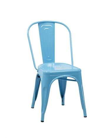 Birlea Vasper Lot de 2 chaises, métal, Bleu, 54 x 44 x 84 cm