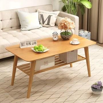 JGWJJ Table Basse avec Table de thé Chinoise carrée pour étagère de Rangement Basse pour Meubles de Salon (Color : Wood Color)