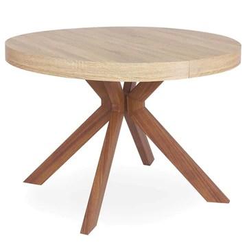 Menzzo Myriade Table Extensible, Bois,Métal, Taille Unique