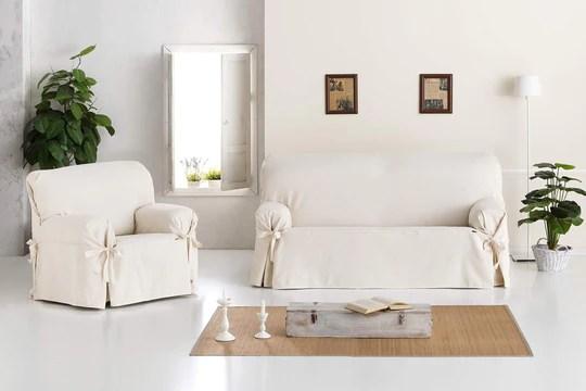 Eysa F61670 Housse de fauteuil Coton Ecru 120 x 110 x 70 cm