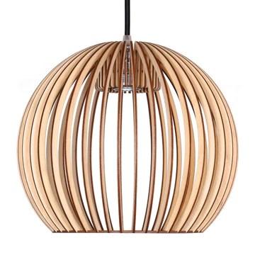 Farbluft Design Bola Suspension en bois au design moderne Plusieurs couleurs, Bois, naturel, E27 60.0W