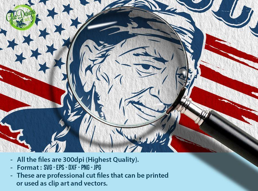 Download I Willie Love The USA Flag SVG, Willie Nelson Cut File 4th ...