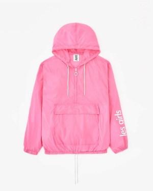 nylon pac a mac pink