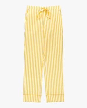 Striped classic cotton pyjama bottoms daffodil