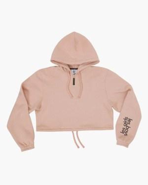 Brushback crop hoodie peachy keen