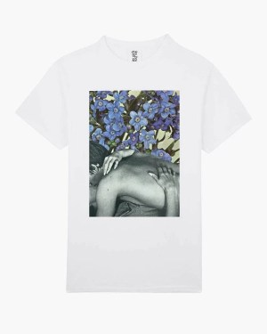 Forget me knot graphic t-shirt white