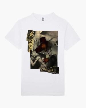 Censored rose graphic t-shirt white