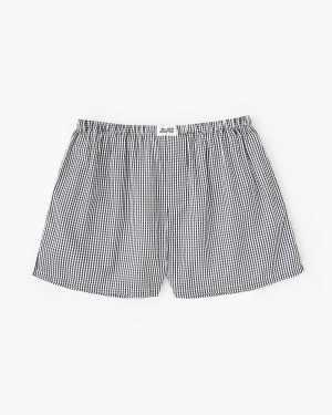tiny gingham woven boxers black/white