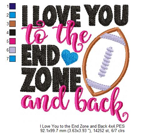 Download I Love You to the End Zone and Back - Football - Machine ...