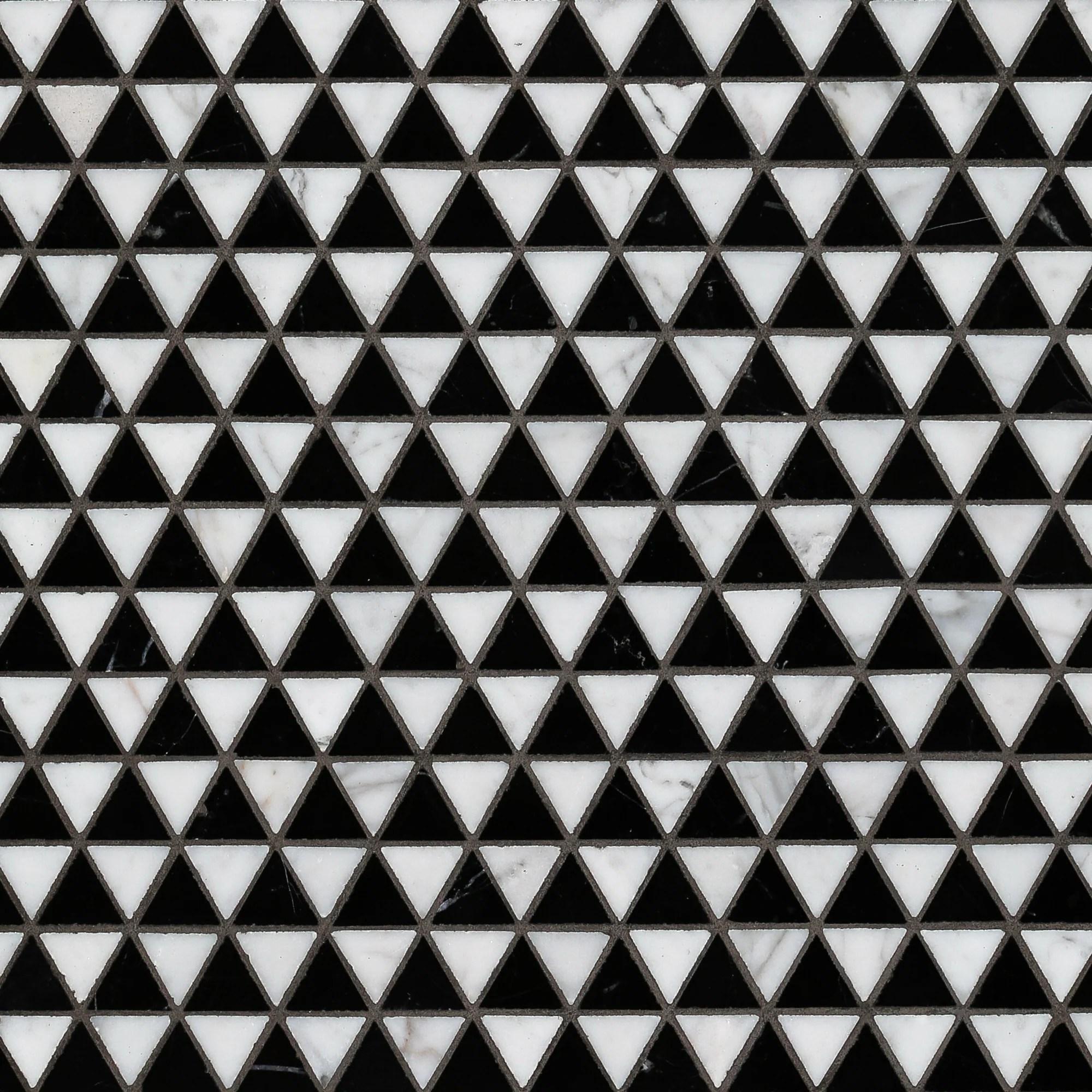 doge mosaic polished stone triangle artistic tile