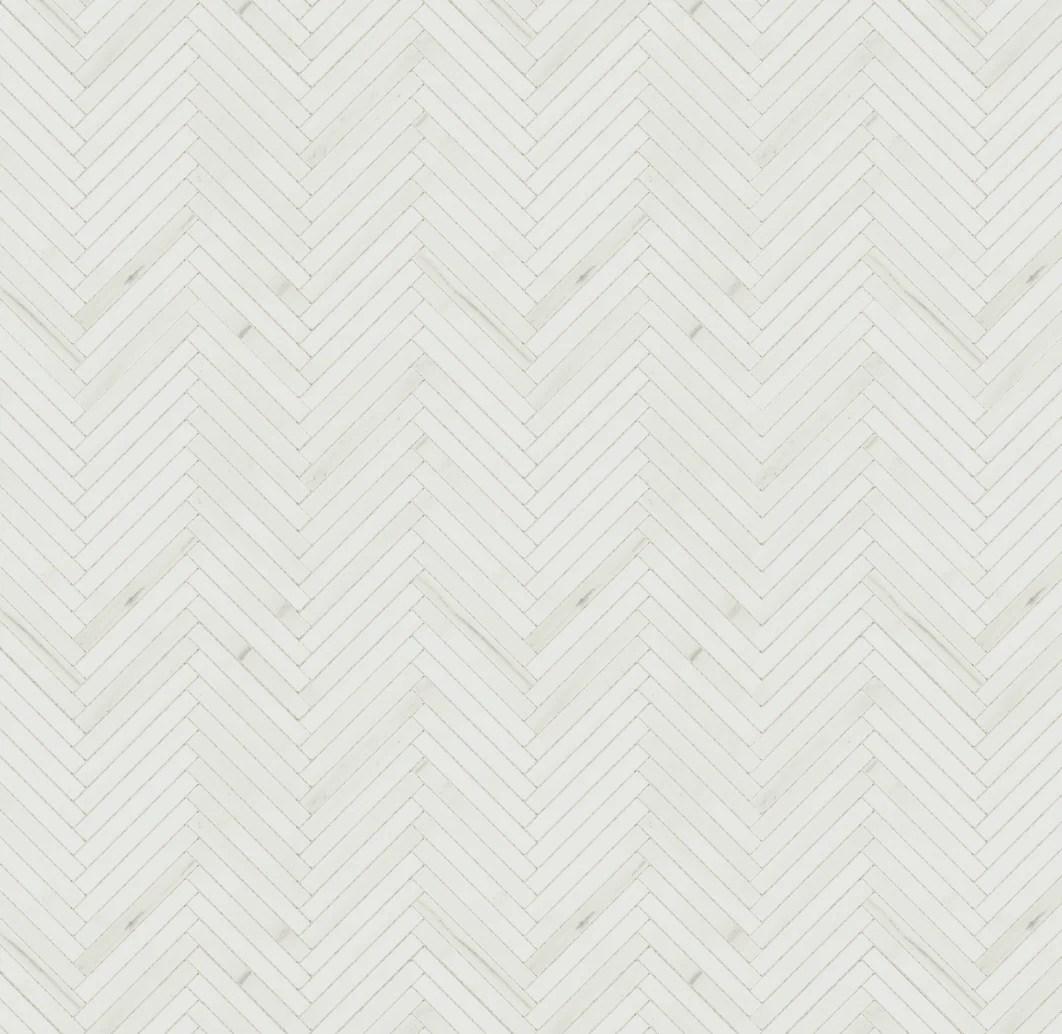 white dolomiti mosaic matte porcelain herringbone